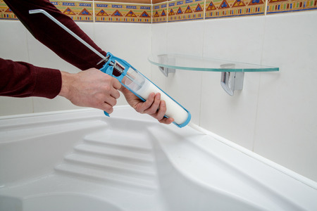 bathroom caulking